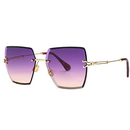 Thirteen Trendige Farbverlauf Sonnenbrille Frauen - Ideal Zum Autofahren Städtetouren Geeignet Für Dekoration, Sonnenschutz, Einkaufen, Reisen, Fahren. (Color : D) (Versace Sonnenbrille Herren Pilotenbrille)