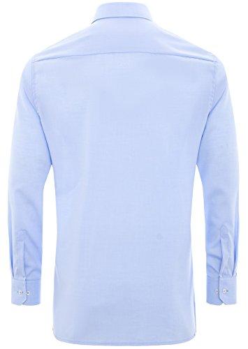 Eterna - Modern Fit - Herren Langarm Hemd mit Kent Kragen, Bügelfrei (8501 X37R) Blau (10)