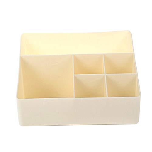 ewahrungsbox Kosmetische Hautpflegeprodukte Kunststoff Die Multifunktions-Aufbewahrungsbox macht das Zuhause sauberer (Beige) ()