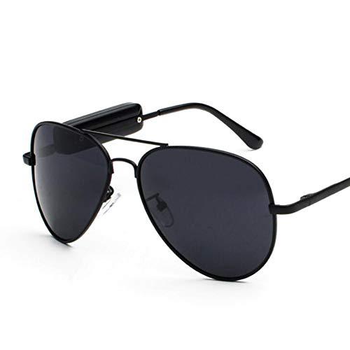 KCaNaMgAl Intelligente Stereobrille, polarisierte Sonnenbrille, Hören von Songs, Telefonieren, Sonnenbrille,Black