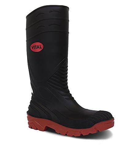 V12vw256/07Titan Herren Safety Schuhe, Größe: 7, Schwarz (2Stück) (Resistant Steel Toe Schuhe)