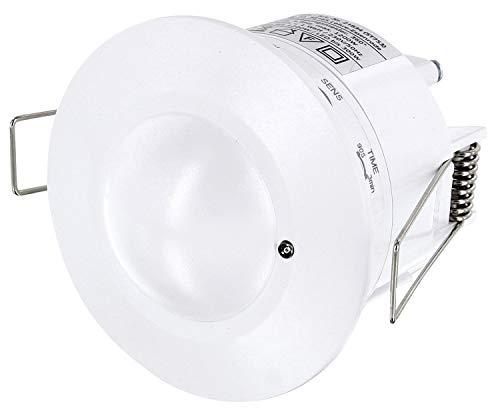 Empotrable HF Detector de movimiento 360° con sensor crepuscular–Alta frecuencia Radar HF 5,8GHz–LED Adecuado–1W hra-1200W 230V