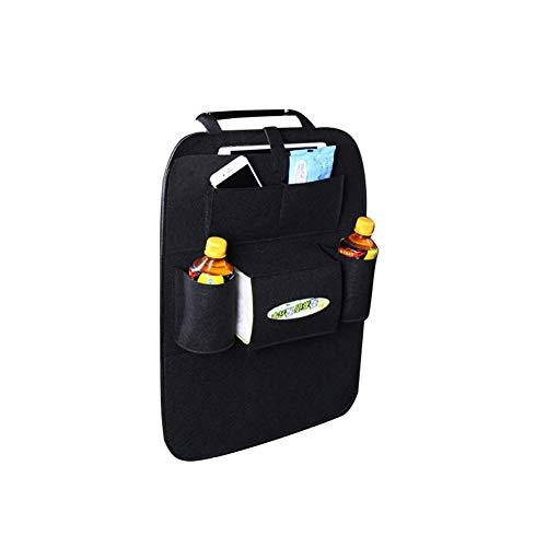 WESEEDOO Autositz Rückenspeicher Tasche Sitz Rückenprotektoren Kids Kick Mat Seat Protector Abdeckung Autozubehör SUV & Car Organizer (schwarz)