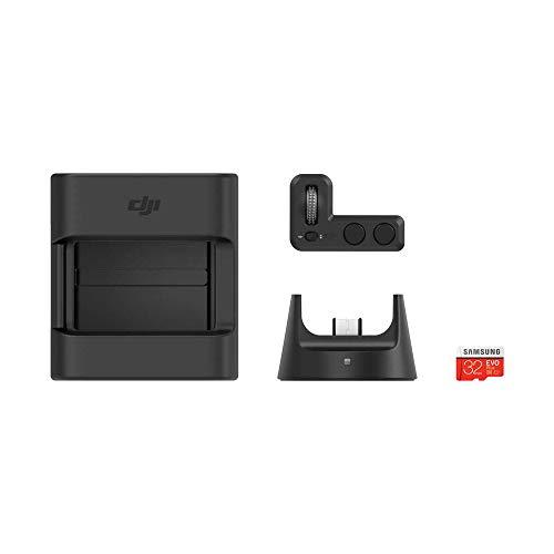 DJI Zubehörset für Osmo Pocket (inkl. 1 Controller Wheel, 1 Wireless Module, 1 Accessory Mount, 1 microSD-Karte Samsung 32 GB / 4 Zubehör - Schwarz