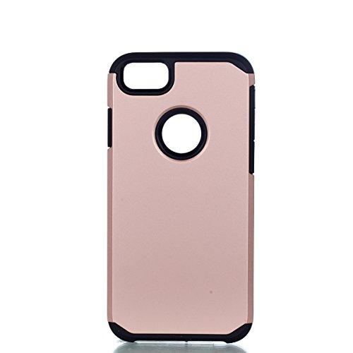Per iphone 7 4.7 pollici 2016 Neo Custodia, Ekakashop di lusso Hybrid Heavy Duty antiurto morbido silicone Gel & Rigida PC 2-in-1 non Layer antiscivolo Anti-dirt Protezione Protettivo Cover Case per A Rosa