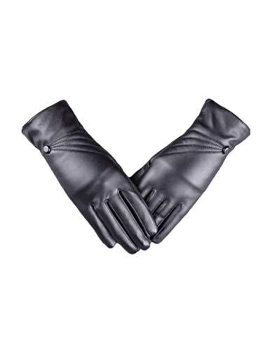 TEBAISE Damen Winter Touchscreen Handschuhe Eleganz Faux leder Warm Faux Kaschmirfutter Faux...