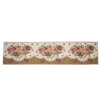 Alicemall Carpet Flower Pattern Non-slip Indoor/Outdoor Kitchen Rug Mat 18