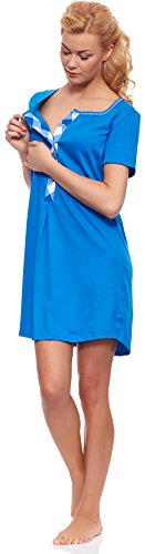Italian fashion if camicia da notte premaman z6t1 m002 (zaffiro, xl)