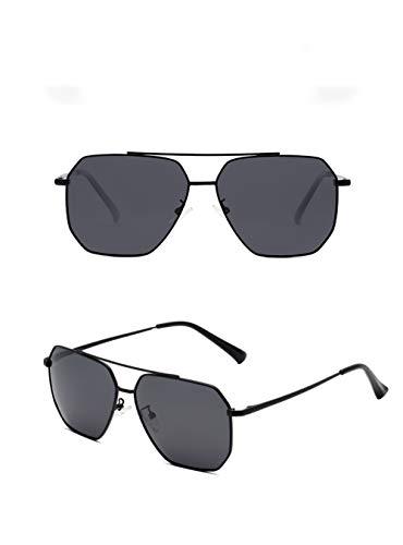GJMB Herren Sport Polarisierte Sonnenbrille Metallrahmen Sonnenbrille HD Lens Fashion Sonnenbrille für Herren Sport Sonnenbrille-Black