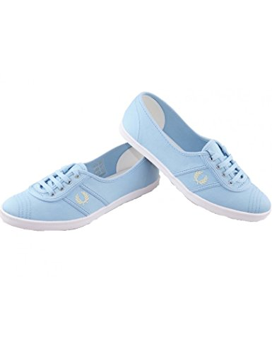 Fred Perry - Chaussures femme Fred Perry Twill Aubrey colour Sky Blue Bleu