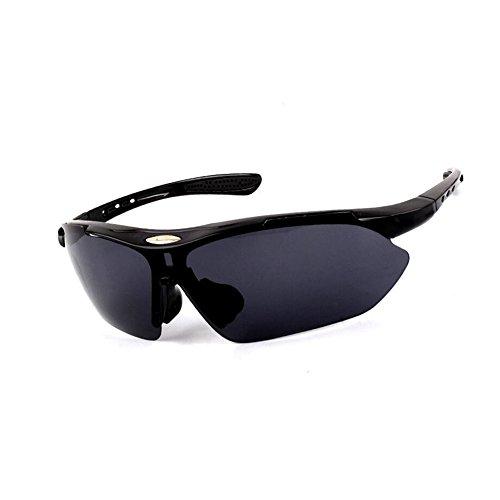 HONEY Reiten Polarisierte Brille Outdoor Sports - Männer und Frauen Läufer Mountainbike Anti-Wind ( Farbe : Schwarz )