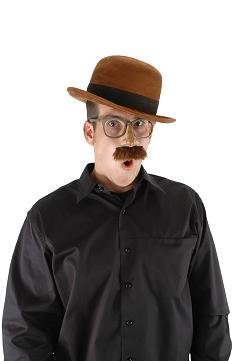 Elope - Steampunk Hut Melone - Braun Bowler Hut Kostüm