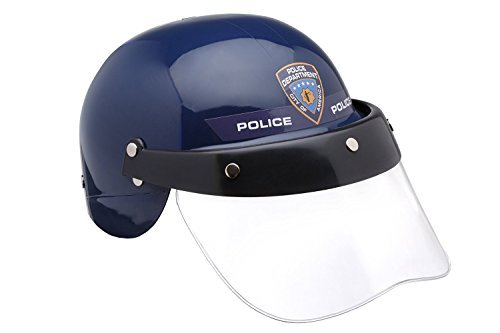 Dress Up America Kinder Pretendplay Polizei Helm mit Transparent Visier - Perfekte Polizei Kostüm Outfit Zubehör für Rollenspiele Events & Parties für Jungen und - Polizei Officer Kostüm Mädchen