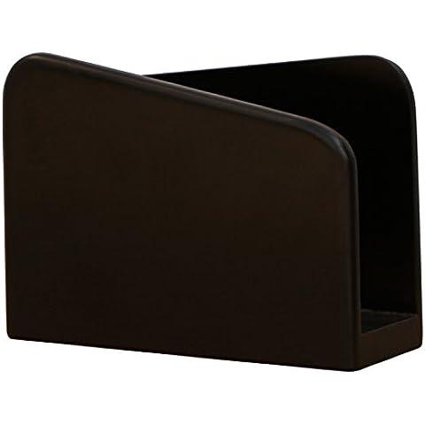 liquidación de almacén - SouvNear Porta servilletas -16.8 cm - madera servilleta titular - negro - pintado a mano comida / cocina / bar / restaurante accesorios