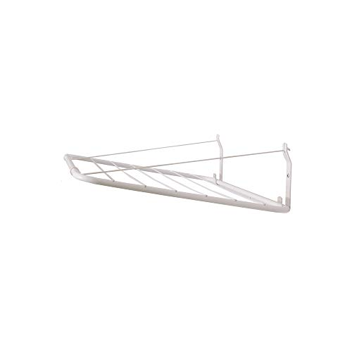 Wandtrockner Alma 125x50, Weiß, Wäschetrockner für die Wand, Stabilen Metallwinkeln, PVC-Beschichtung, 100% rostfrei, 30 kg feuchte Wäsche - Wand Die Wäscheständer Für
