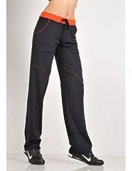 Pantalon Fitness Danse Femme Noir Orange - Margarita