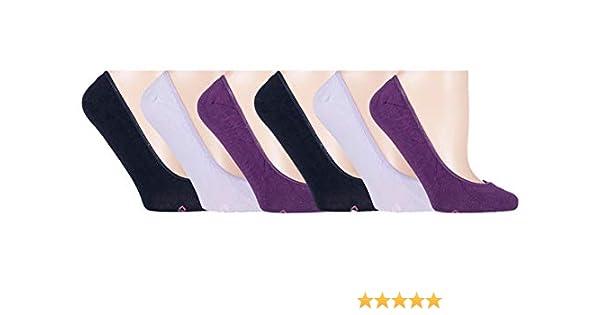 6 paia di calze invisibili per donna taglia EUR 37-42 UK 4-8 Footsies ricchi di cotone ideali per scarpe da ginnastica ect