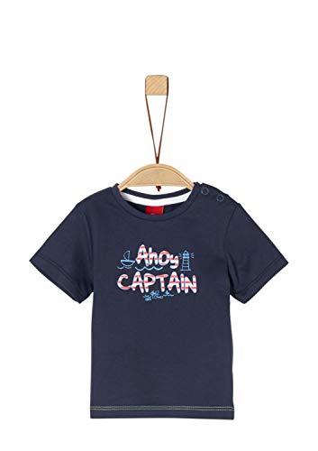 s.Oliver s.Oliver Baby-Jungen 65.903.32.5437 T-Shirt Blau (Dark Blue 5874), Herstellergröße: 62