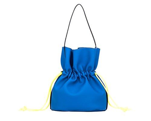 Secchiello Braintropy Bubble con lacci in corda (Blu elettrico)