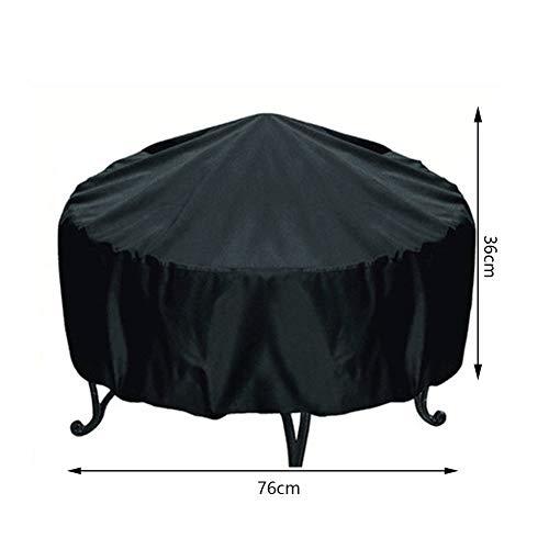 RUANMU Cubierta De Muebles Funda Muebles, Negro Tela Oxford Cubierta De Brasero, Impermeable/Protector Solar (76 * 36Cm)