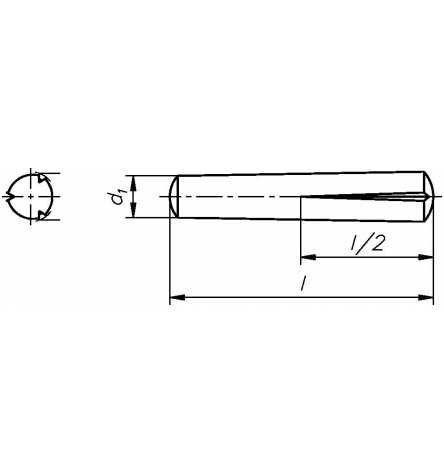 Reidl Paßkerbstifte 6 x 30 mm DIN 1472 Stahl blank 10 Stück