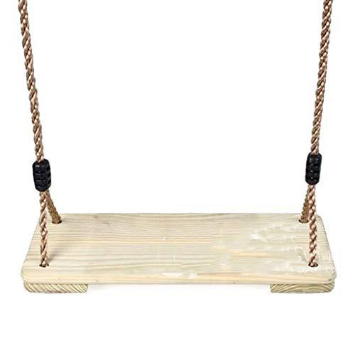 Gym Kingdom Swing Hölzerne Baum Schaukeln für Kinder Einstellbare Kinder Holz Sitz im Freien Decke Kinderzimmer Schaukeln Drinnen und Outdoor Hängenden Schaukeln (Color : 17.71 * 7.48inchs)