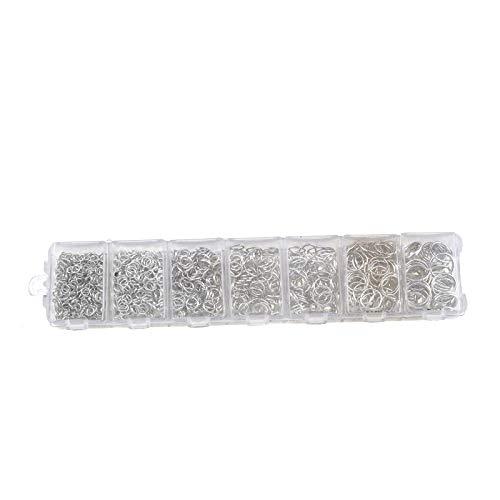 ENET 1500 pcs Anneaux Ouverts 3 mm 4 mm 5 mm 6 mm 7 mm 8 mm 10 mm Ensemble boitier pour DIY Bijoux Apprêt