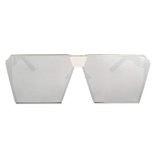 Siwen Fashion Square Sonnenbrille Frauen Celebrity Metal Mens Übergroße Sonnenbrille Spiegellinse,8 -