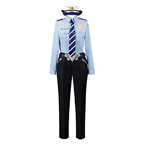 MingoTor Polizistin Uniform Polizeiuniform Cosplay Kostüm Herren L