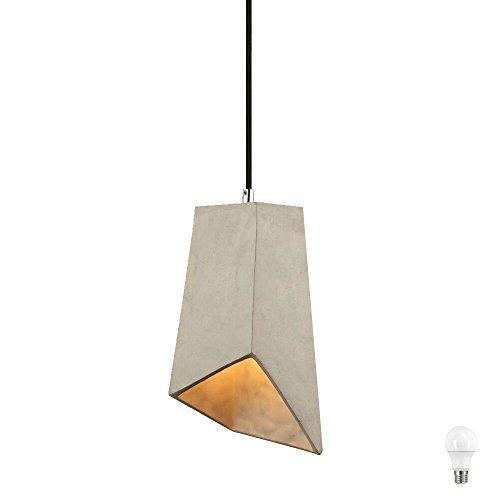 Pendel Decken Lampe Ess Zimmer Beleuchtung Beton Hänge Leuchte grau im Set inkl. LED Leuchtmittel