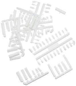 schulcz 03-20201Arquitectura, Diorama Modelismo, Coches & Camión Set, M = 1: 500(100Unidades), Color Blanco