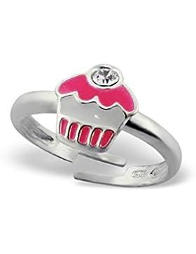 Liara - Kinder Cupcake Ringe 925 Sterling Silber Farbe.Poliert und Nickel frei