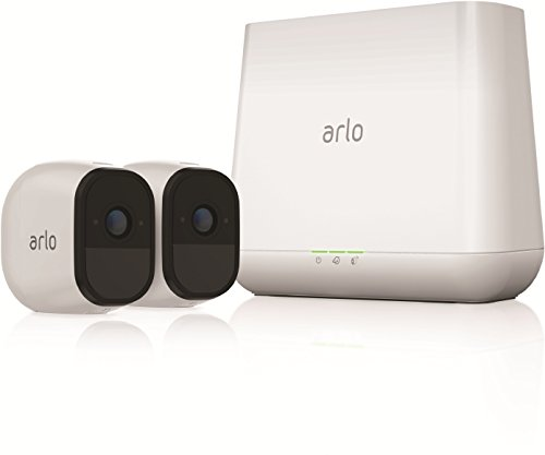 Arlo Pro VMS4230 Wireless Home Security Camera System with Siren, Rechargeable, Night Vision, Indoor/Outdoor, HD Video, 2-Way Audio, Wall Mount, Cloud Storage Included, 2 Camera Kit