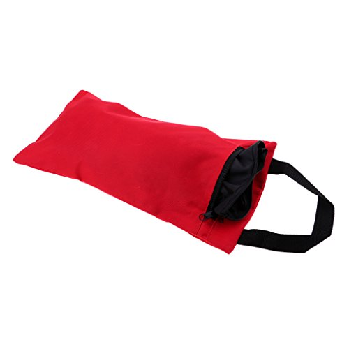 Baoblaze Yoga Sandsack Sandbag mit Innenbeutel aus Oxford Tuch Yogazubehör - Rot