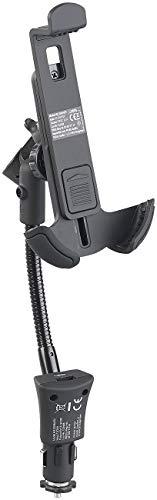 """Callstel Smartphone Halter: Kfz-Halterung für Smartphones 4""""- 6,3"""", USB-Ladeport, 3,1 A, 15,5 Watt (Schwanenhalshalterung)"""