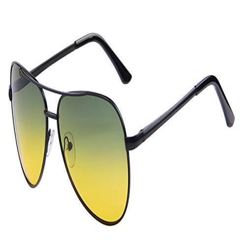 FGRYGF-eyewear Sport-Sonnenbrillen, Vintage Sonnenbrillen, Men Polaroid Sunglasses Night Vision Driving Sunglasses 100% Polarized Sunglasses C01 Black Night 250 Night Vision