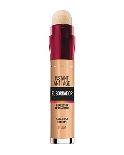 Maybelline New York Corrector de Ojeras El Borrador, Tono 01 Light