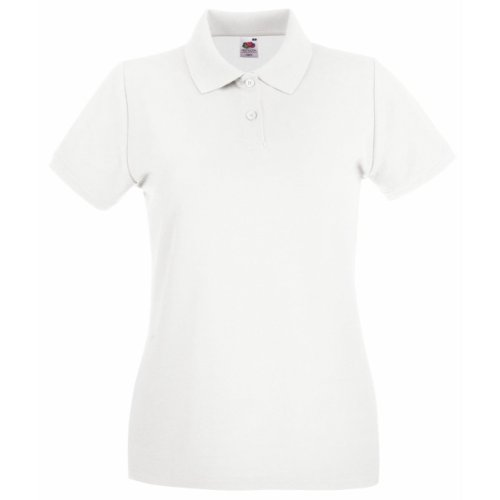 Polo à manches courtes Fruit Of The Loom pour femme Blanc - Blanc