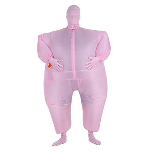 Kostüm Fett Dick Cosplay für Fasching Karneval (Aufblasbare Handschuhe)