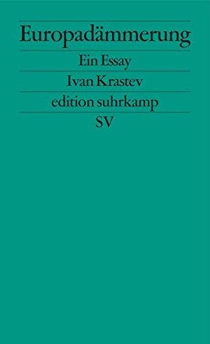 Buchcover Europadämmerung: Ein Essay (edition suhrkamp)
