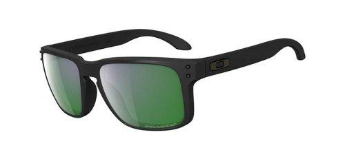 d027651e73 Oakley Sonnenbrille Holbrook, Gafas de Sol Polarizadas Unisex, Negro (Matte  Black/Emerald