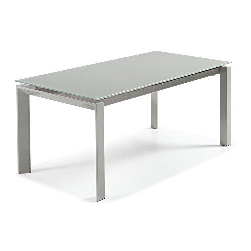 Kavehome Kila Auszibahrer Tisch 160-230 cm, grau