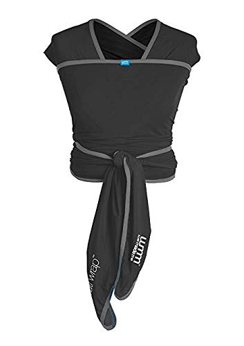 We Made Me Flow, Super Stretchy, Cool & Comfortable Baby Carrier for Infants from 3.6-15.9 kg, Midnight Black Diono Nurture Your Bond From Birth: Low helps to build on your natural bond, hands free and while on the go, helping new parents to keep that close connection after birth all the way up to 15.5 kg The Lightest Wrap of It's Kind: The super flexible construction makes Flow one of the lightest soft carrier wraps on the market (0.58 kg versus 0.8 kg in average) Breathable Air Flow Mesh: The self-regulating air flow mesh material helps to keep you and baby cool and comfortable, perfect for the hot summer months 1