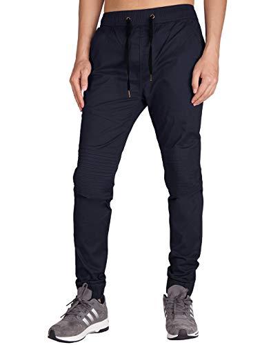 ITALY MORN Jogger Sweat Pants Baggy Casual Jogging Pantalon Biker Wear (M, Bleu Foncé)