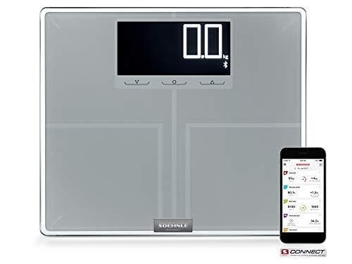 Soehnle Körperanalysewaage Shape Sense Connect 200 mit Bluetooth, digitale Personenwaage für Premium-Körperanalyse (BIA), Körperwaage berechnet präzisen Kalorienbedarf