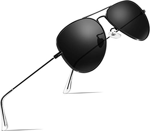 ATTCL Unisex Classic Aviator Driving Polarisiert Sonnenbrille 3026-black