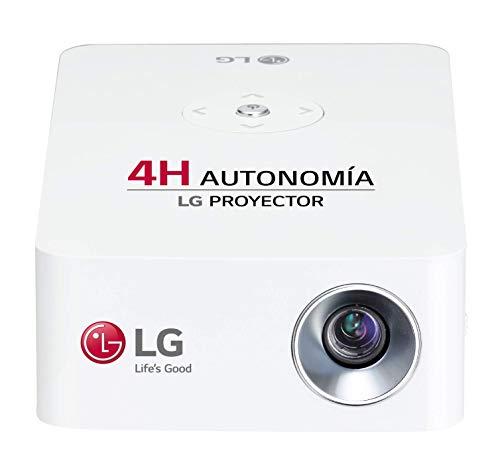 LG Beamer PH30JG bis 254 cm (100 Zoll) CineBeam Native HD LED Projektor (250 Lumen, Auto Keystone, integrierter Akku), weiß