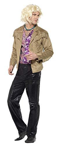Kostüm Shirt Zoolander - Smiffys 20601L - Zoolander Hansel Kostüm mit Hosee Jacke mit aufgesetzter Mock Shirt und Halskette