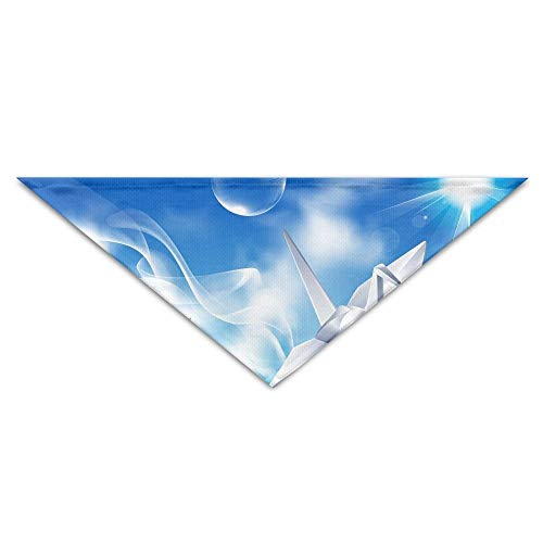 Gxdchfj Pet Triangle Bandana Origami Crane Bubble Cloud Sky Washable Dog Puppy Scarf Bib Babys Neckerchief Accessories -