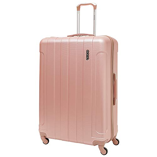 EONO Essentials Valise ABS Rigide Légere à 4 roulettes, Grande 81cm, 126L, Or Rose